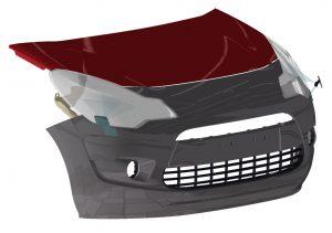 Components exteriors de plàstic pel sector de l'automòbil